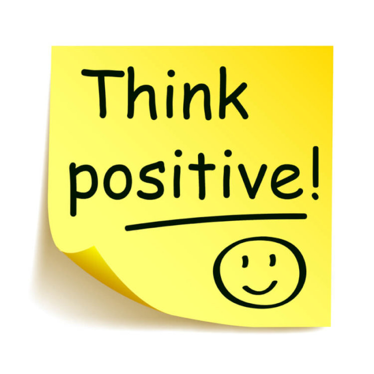 Post it note Think positive